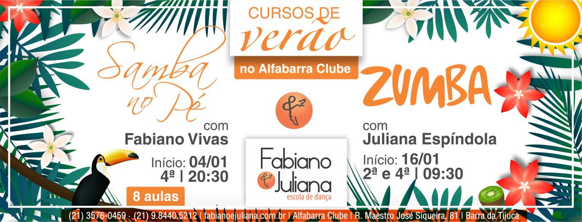 04/01 20h30 :: Cursos de Verão - Samba no Pé :: Alfabarra Clube