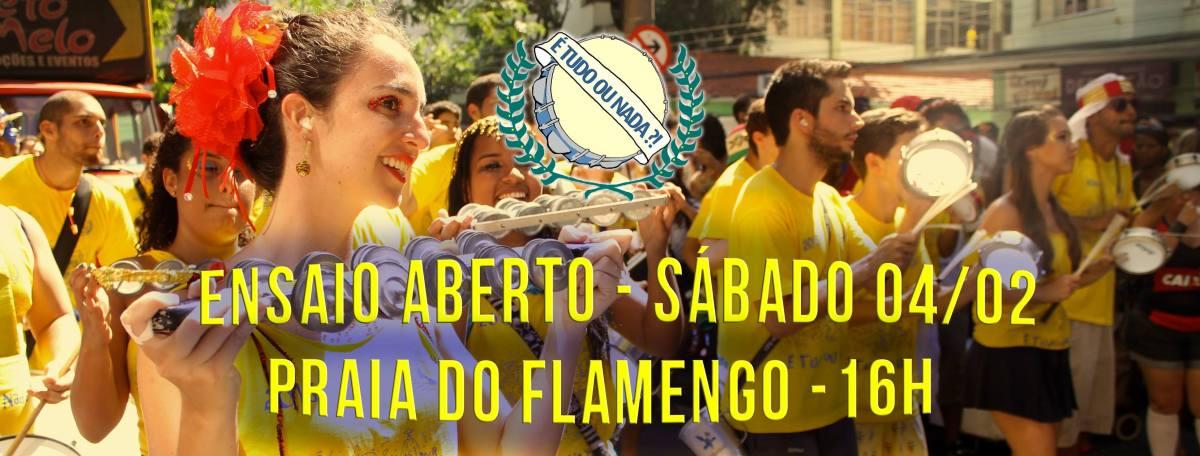 """04/02 16h :: Ensaio """"É tudo ou nada"""" :: Posto 2 Praia Flamengo"""