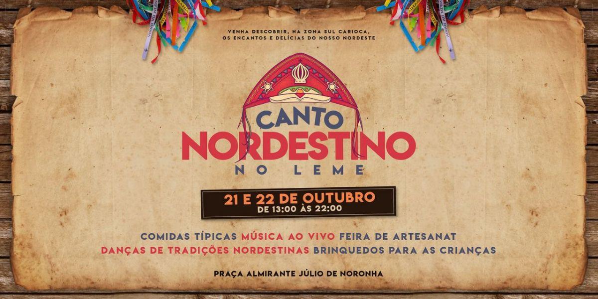 21 e 22/10 13h :: Canto Nordestino :: Canto do Leme